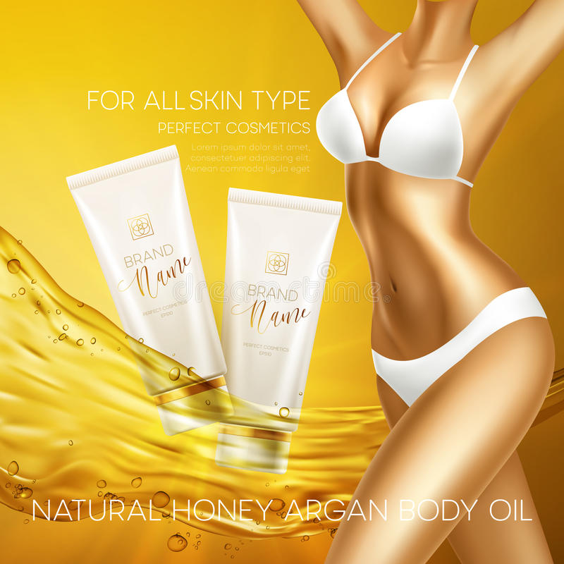 Słońce ochrony produktów projekta kosmetyczny szablon również zwrócić corel ilustracji wektora ilustracja wektor