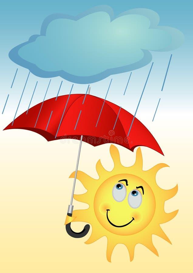 słońce parasol royalty ilustracja