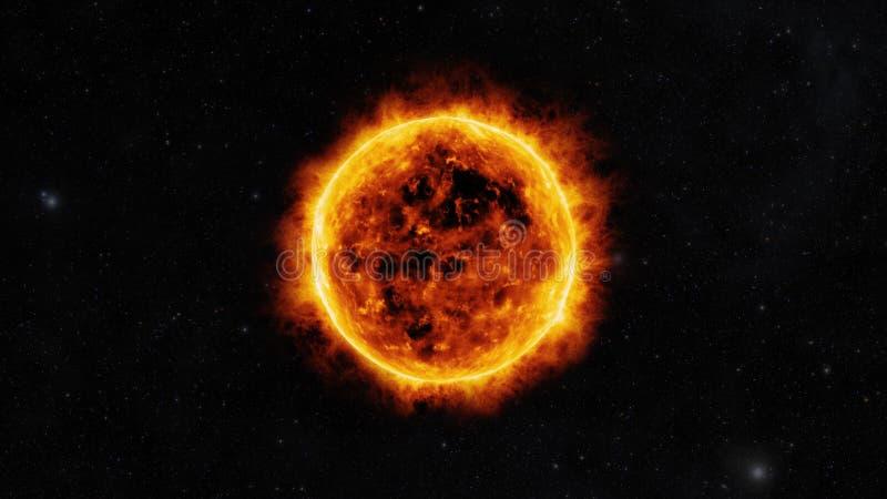 Słońce powierzchnia ilustracji