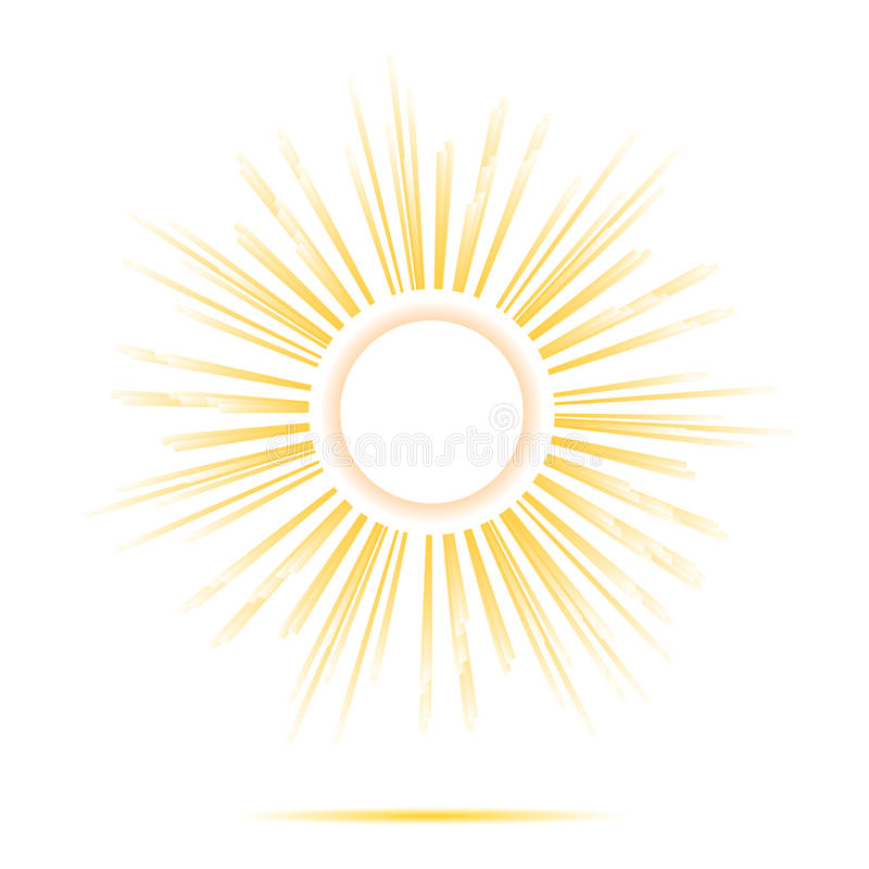 Słońce promieni okręgu rama ilustracji
