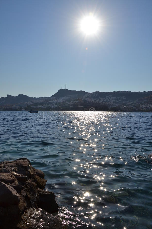 Słońce przy morzem - morze krajobraz fotografia stock