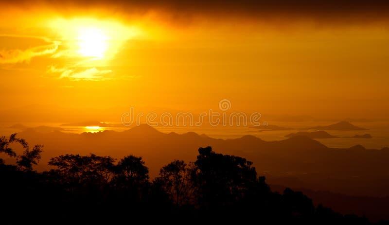 Słońce set zdjęcia stock