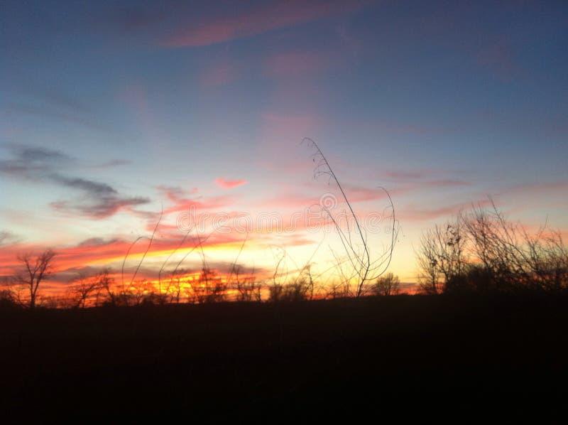 Słońce set, zdjęcia stock