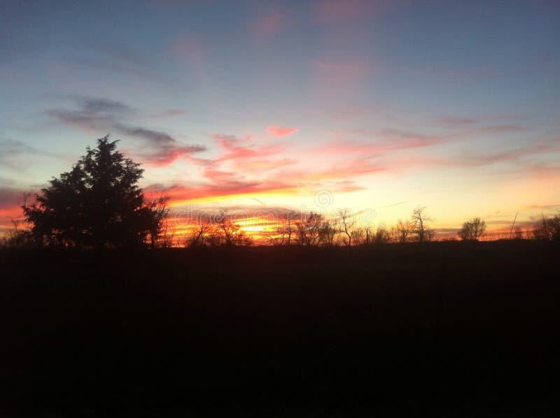 Słońce set, obraz royalty free