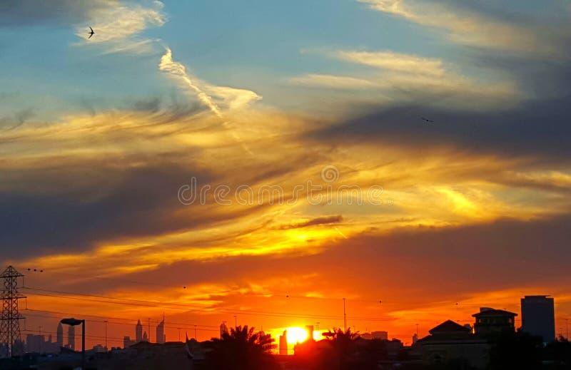 Słońce sety zdjęcia stock