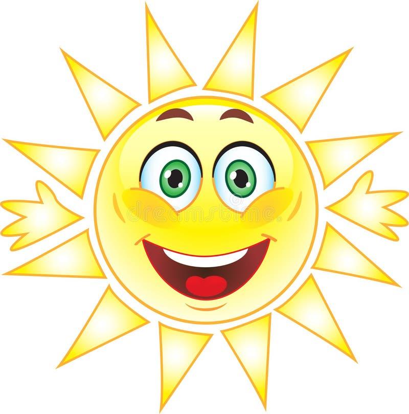 Słońce, Smiley. Symbol. royalty ilustracja