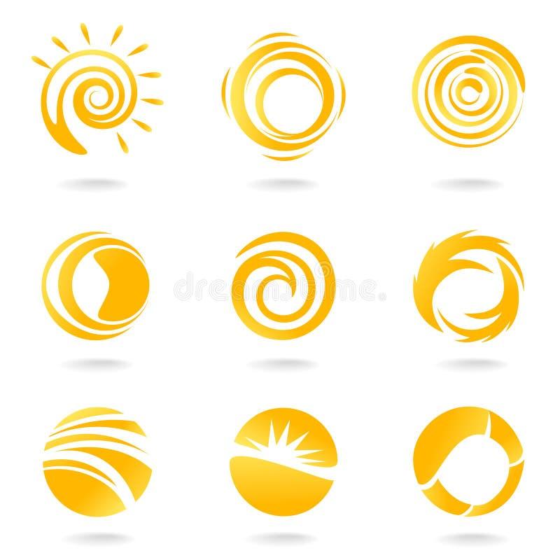 słońce symbole royalty ilustracja
