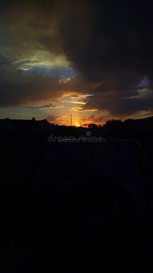 Słońce ustalony zmierzch Botswana Gaborone zdjęcie royalty free