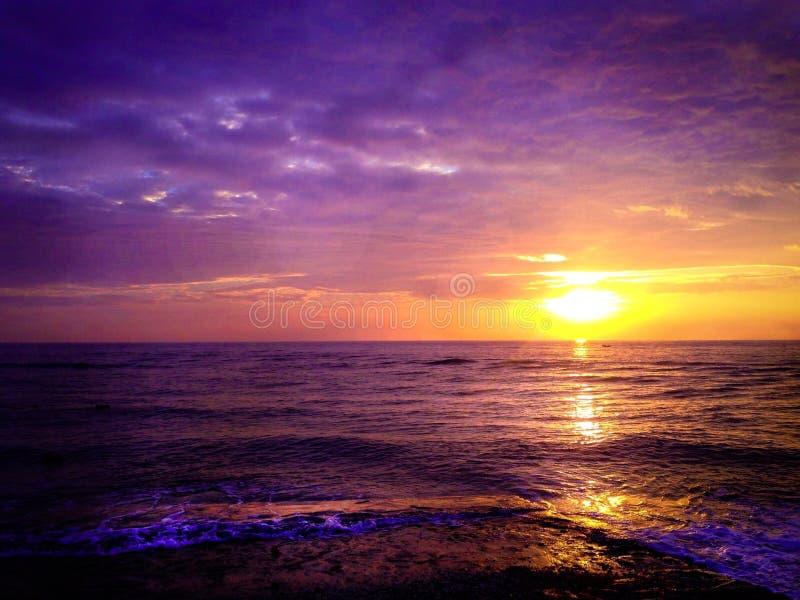 słońce ustawiający w Tajlandia obraz stock