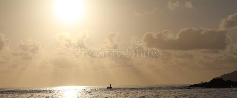 Słońce W górę połowu obraz stock