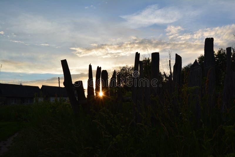 Słońce w ogrodzeniu obraz royalty free