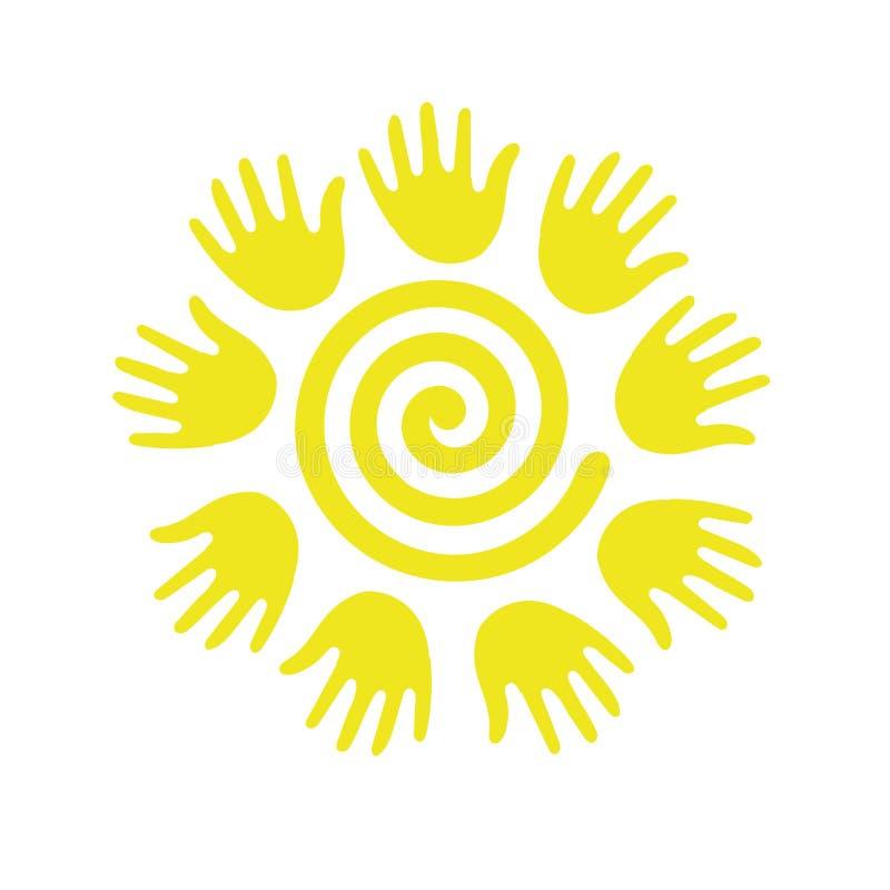 Słońce w postaci spirali royalty ilustracja