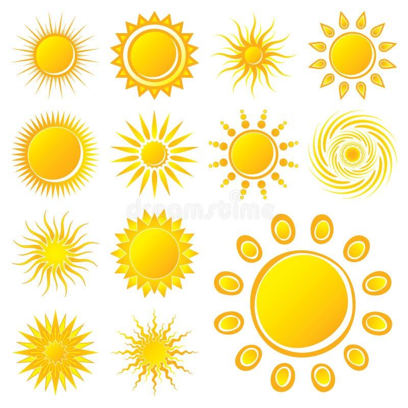 słońce wektor ilustracji