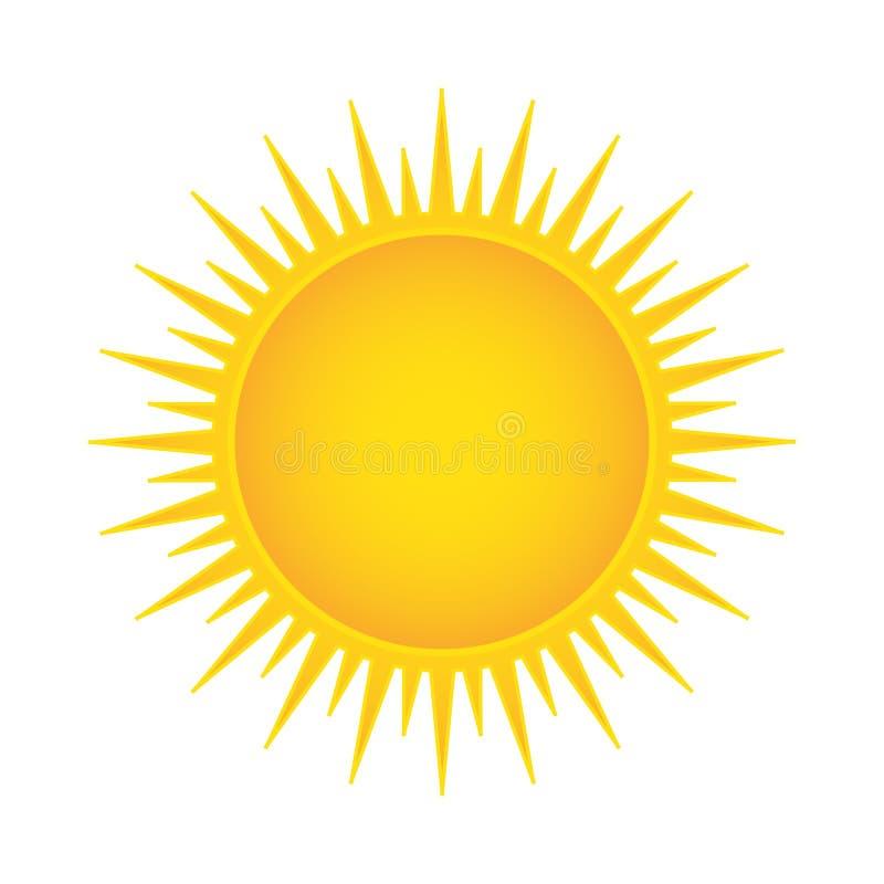 Słońce wektoru ilustracja ilustracja wektor