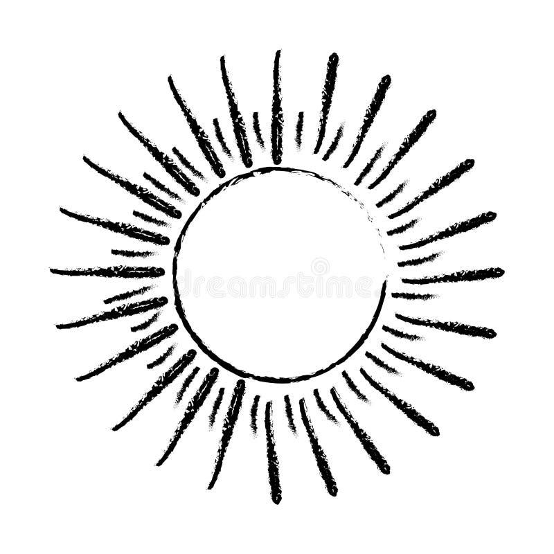 Słońce wybuchu światło royalty ilustracja