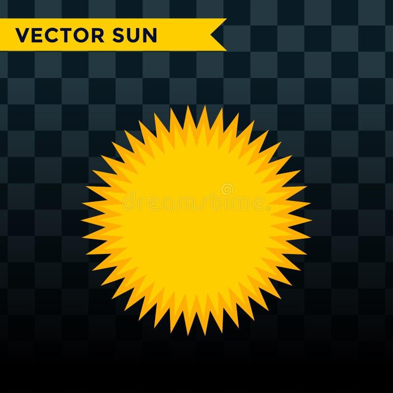 Słońce wybuchu gwiazdy ikony natury połysku światła słonecznego sunbeam iskry wschodu słońca znaka wektorowy ilustracyjny lato od royalty ilustracja