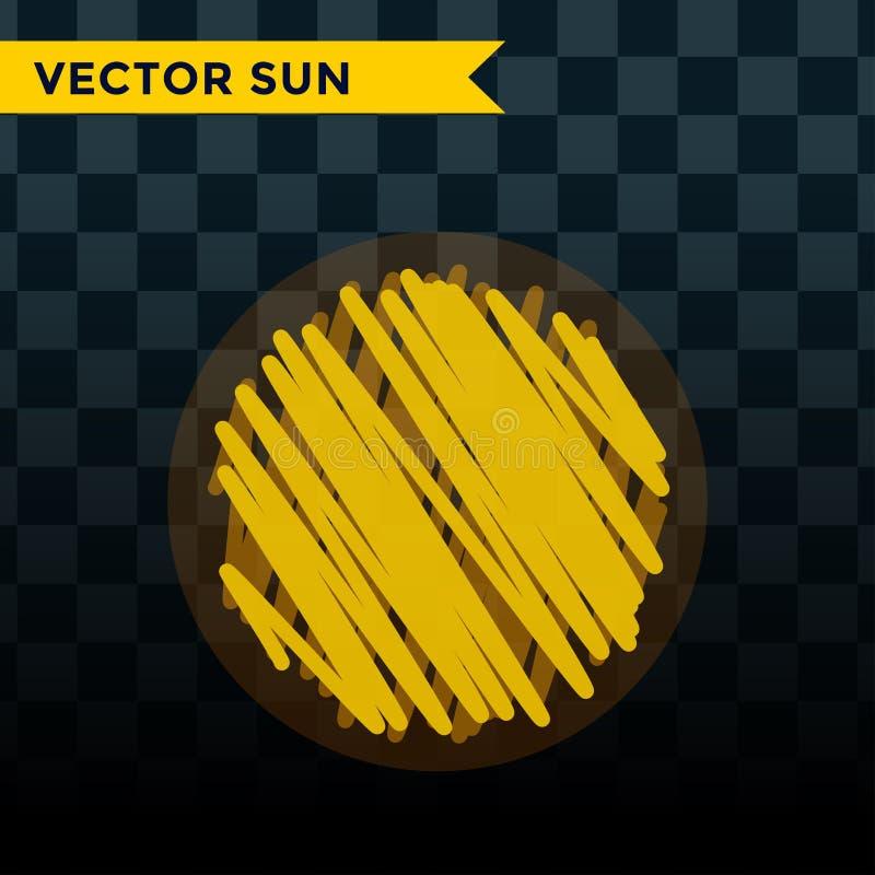 Słońce wybuchu gwiazdy ikony natury połysku światła słonecznego sunbeam iskry wschodu słońca znaka wektorowy ilustracyjny lato od ilustracja wektor