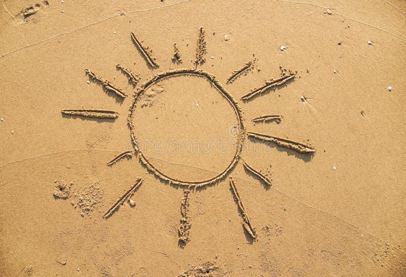 słońce wypatroszone piasku obrazy stock