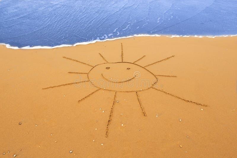 słońce wypatroszone piasku zdjęcie stock
