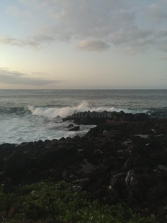 Słońce wzrasta na wyspie Kaui zdjęcia stock