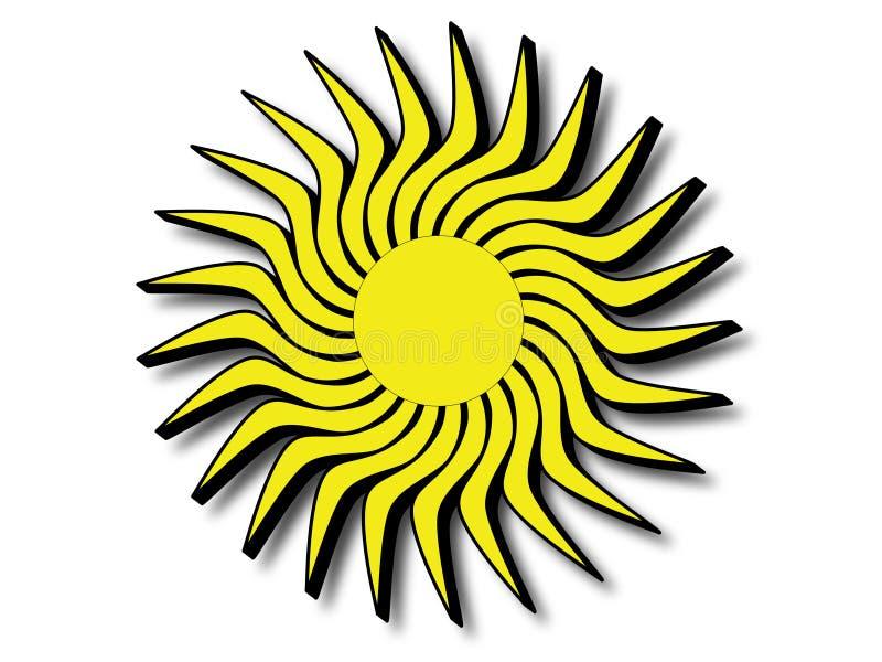 Słońce z czarnymi krawędziami fotografia royalty free