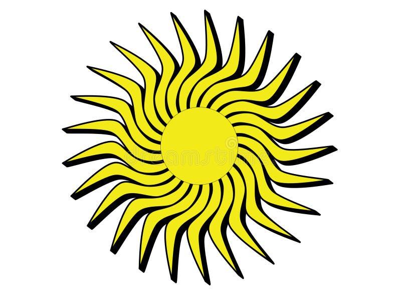 Słońce z czarnymi krawędziami obrazy stock