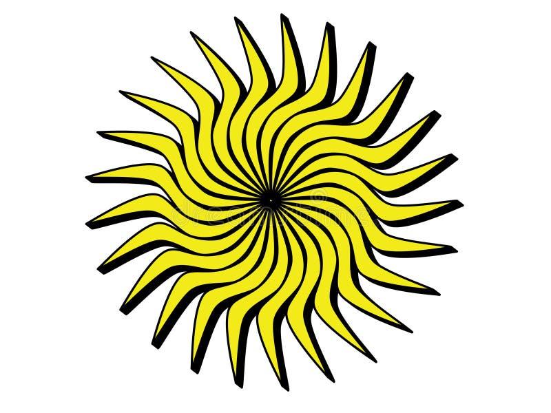 Słońce z czarnymi krawędziami obraz royalty free