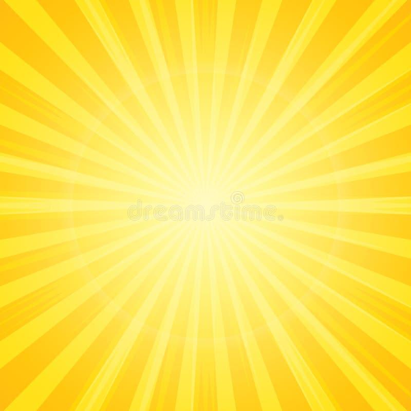 Słońce z promienia tłem royalty ilustracja