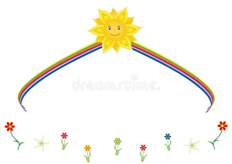 Słońce z tęczą royalty ilustracja
