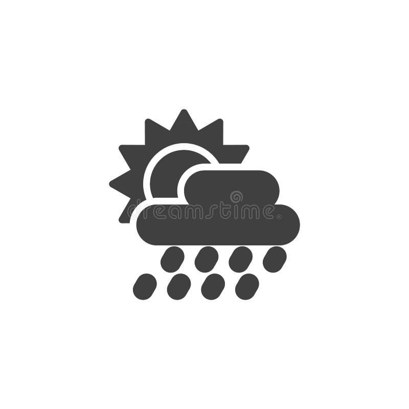 Słońce za podeszczowej chmury wektoru ikoną ilustracja wektor