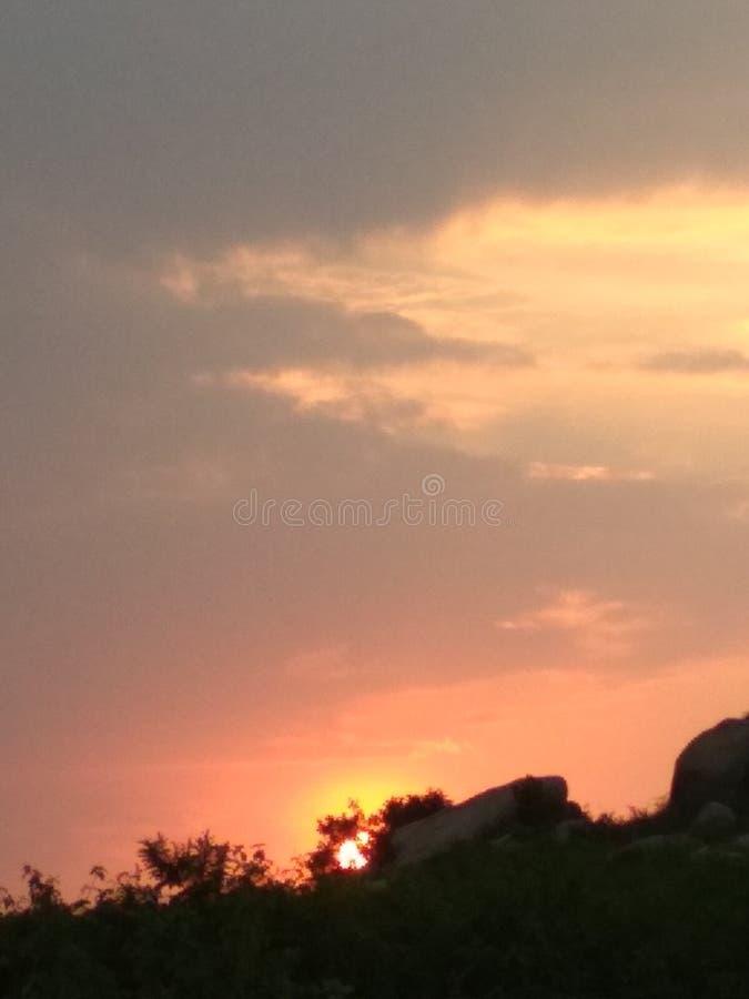 Słońce zmierzch zdjęcia royalty free