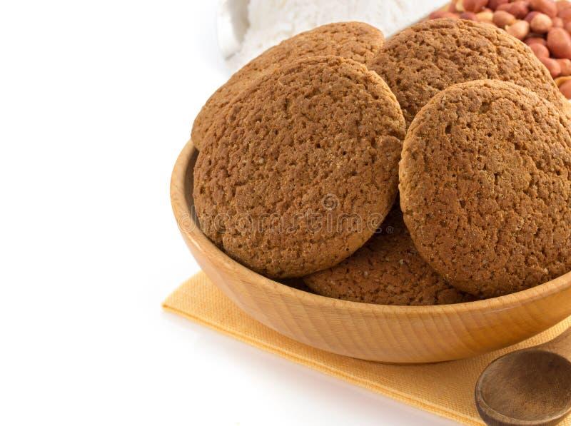 Słodcy ciastka na bielu zdjęcie royalty free