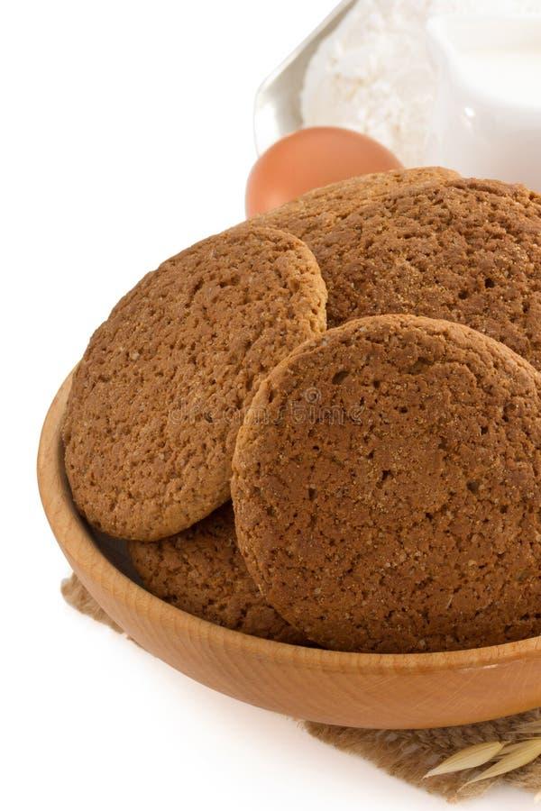 Słodcy ciastka na bielu obraz stock