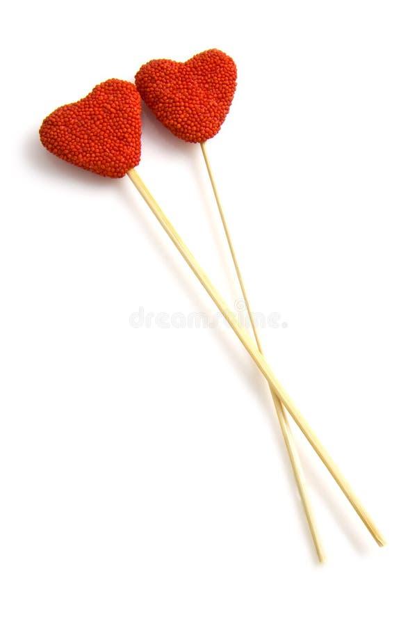 słodcy cukierków serca zdjęcia stock