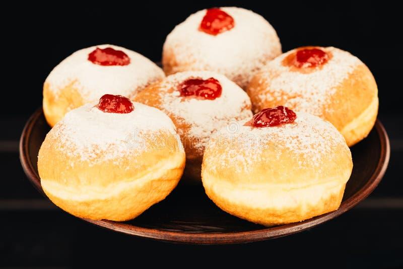 Słodcy donuts z galaretą obraz stock