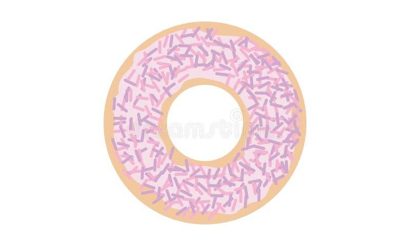Słodcy donuts z jednorożec kropią fotografia royalty free