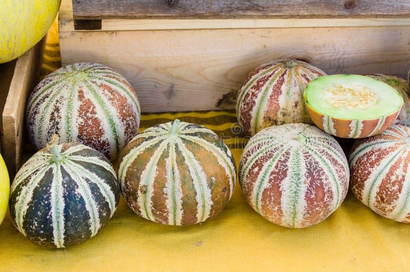 Słodcy Kajari melony przy rynkiem obrazy stock