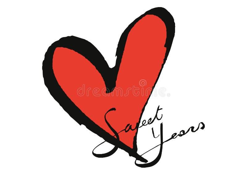 Słodcy rok logo ilustracja wektor