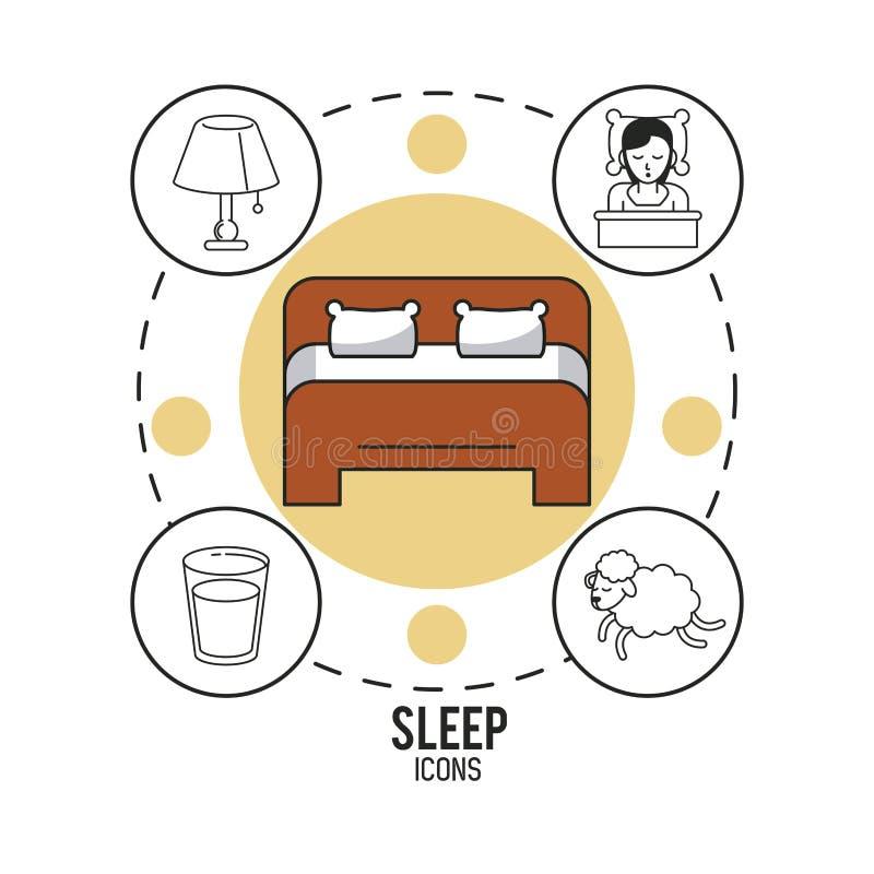 Słodcy sen i dobry sen infographic ilustracji