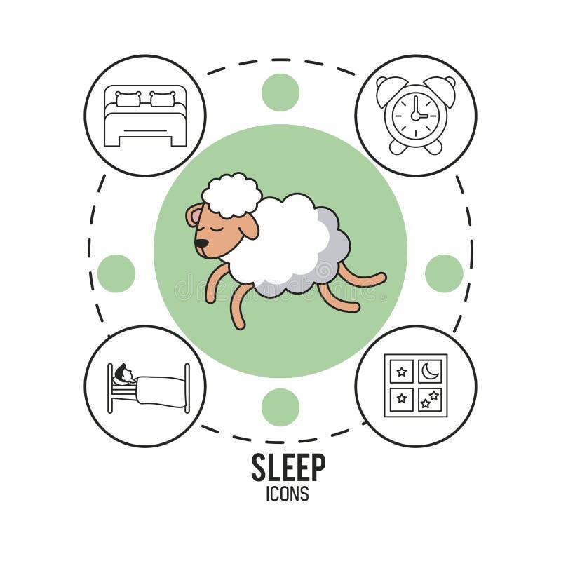Słodcy sen i dobry sen infographic royalty ilustracja