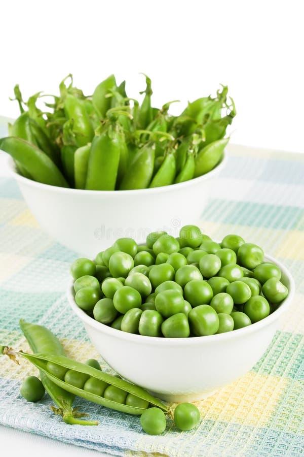 słodcy zieleni grochy obraz royalty free