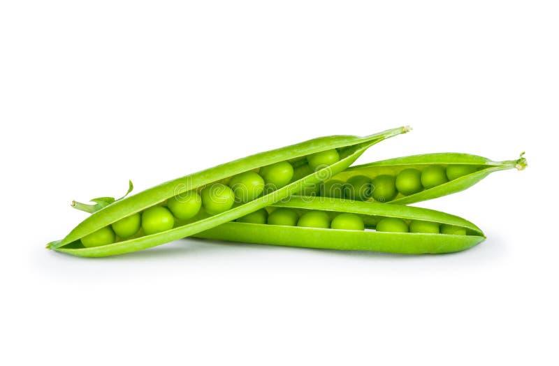 Słodcy zieleni grochy w zbliżeniu fotografia royalty free