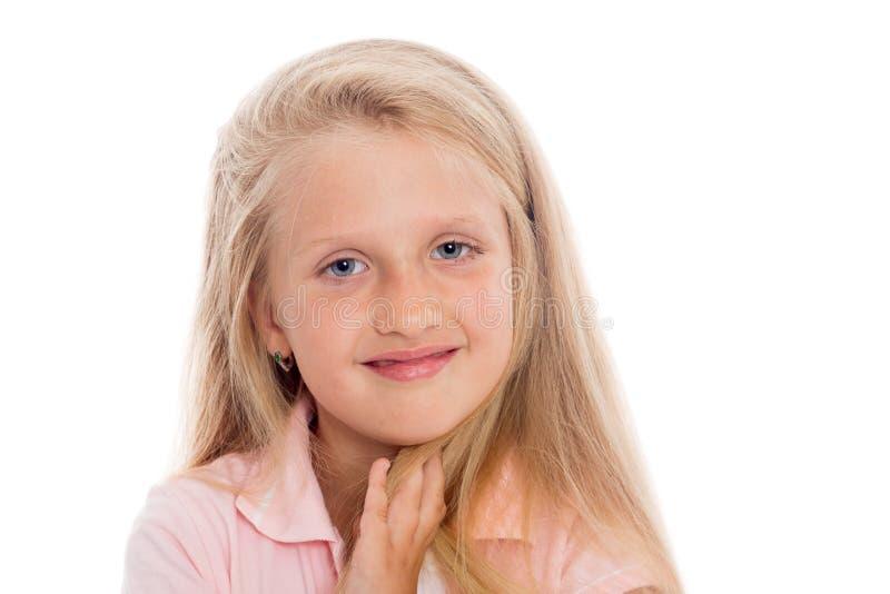 słodka blondynka dziewczyna obraz royalty free