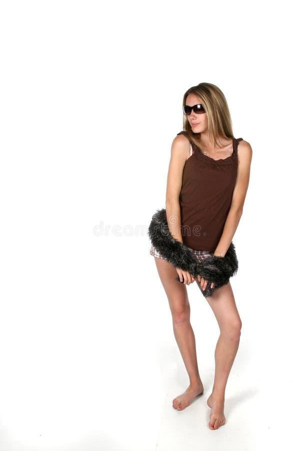 słodka dziewczyna czarnej grać szalik nastoletniego zdjęcia stock