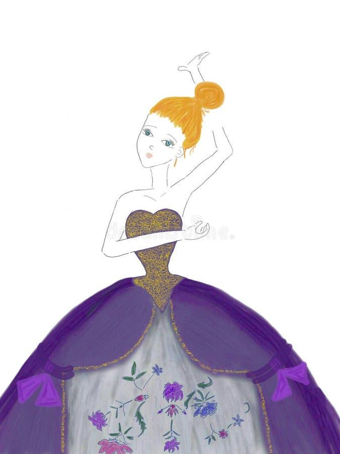 słodka dziewczyna ruda ilustracja wektor
