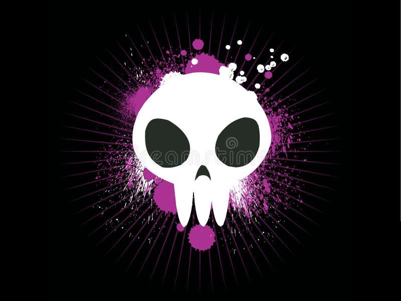 słodka graffiti czaszki ilustracji