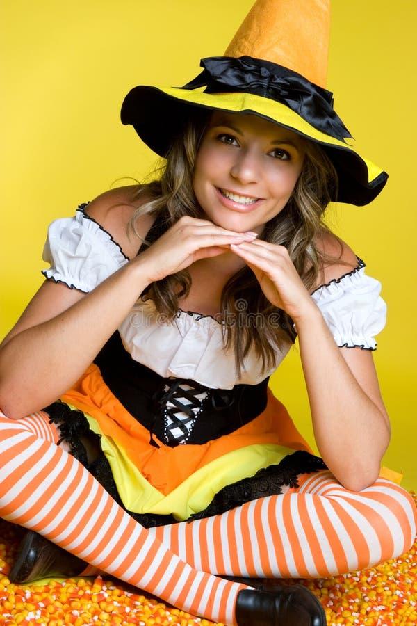 słodka Halloween wiedźma obraz royalty free