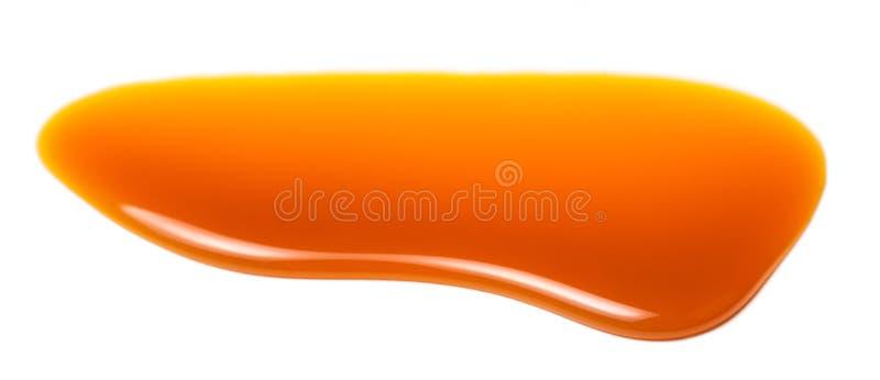 Słodka karmelu kumberlandu kropla odizolowywająca na białym tła zakończeniu up zdjęcia stock