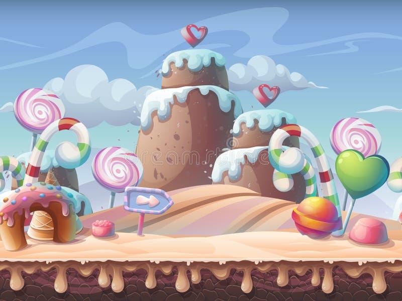 Słodka karmelu tła wektoru ilustracja royalty ilustracja