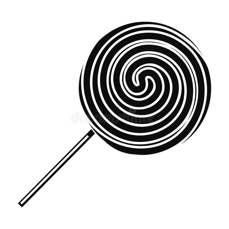 Słodka kija lizaka ikona, prosty styl ilustracja wektor